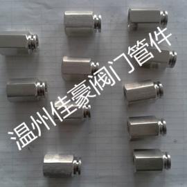 PCF内螺纹直通气管接头,不锈钢内丝气动接头