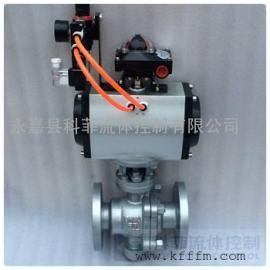 Q647F气动铸钢软密封固定球阀