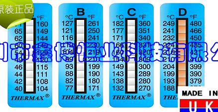 英国TMC变色温度纸长期销售-英国TMC变色温度纸