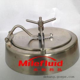 啤酒发酵罐内开人孔配件,不锈钢椭圆式内开式人孔