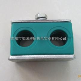 四川成都轻型双孔塑料管夹(JB/ZQ4008/97)Φ8-42