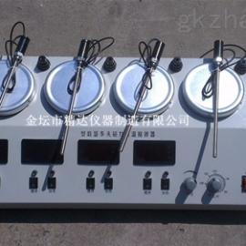 厂家直销数显多头恒温磁力加热搅拌器CJJ-4A