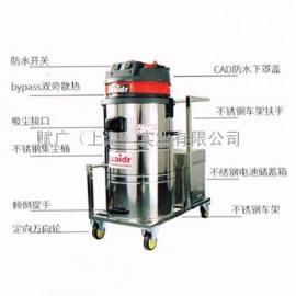 可推吸式电瓶式吸尘器 使用24V蓄电池工业吸尘器