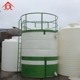太原10T化工液体储存罐 耐酸碱塑料大桶 10立方化工储罐