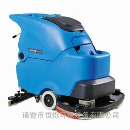 全自动手推式洗地机 电瓶式洗地吸干机