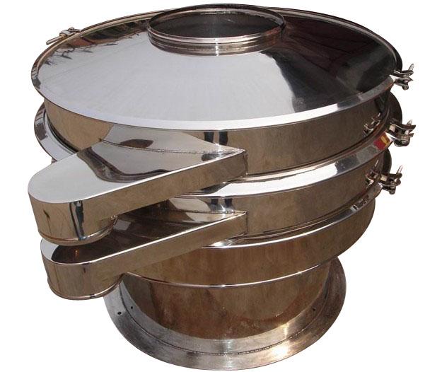 振动筛简介 XZS振动筛是一种以专用振动电机为振源,参考国内振动筛机特点而设计的高精度筛分过滤机械。本系列产品广泛运用于各类干式、湿式及多种几何形状物料的筛分、过滤作业。其特点为性能高、噪声低并设有消除堵网的弹跳球装置及换网容易的分离式筛网。整机全封闭结构,无粉尘、液体溢散,可连续作业,是化工、医药、塑料、食品、矿业、环保、磨料、陶瓷等行业的必备设备。  各型号振动筛详细参数 1、XZS600型振动筛 600型振动筛筛框直径我600mm,电机功率0.