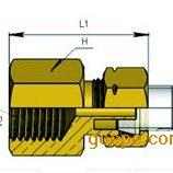 嵌入式尼龙卡套接头 进口内螺纹直通接头