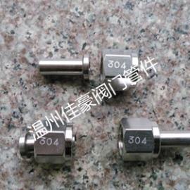 M14*1.5/¢8不绣钢压力表接头 内丝直通仪表焊接接头