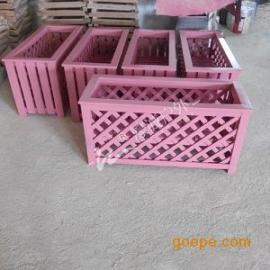 供应镂空花箱-长方形镂空粉红花箱