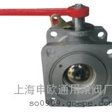 Q41F-6L-DN100铝合金方法兰直通槽车球阀