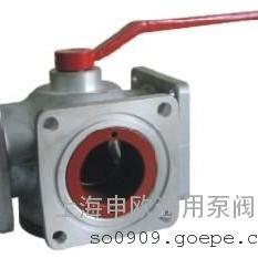 Q44F-6L-DN80铝合金三通槽车球阀