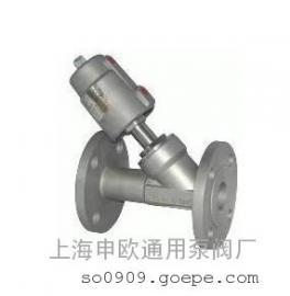 Y645W-16P-DN40全不锈钢法兰式气动角座阀