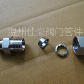 304不锈钢锻打体外螺纹卡套式直通,弯通,三通终端管接头