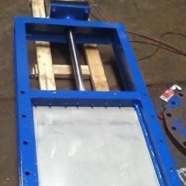 LMD400X400气动不锈钢单向螺旋闸门