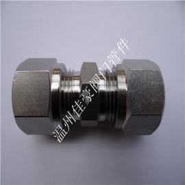 GB/T3737不锈钢液压级单卡套热处理高压卡套式直通接头