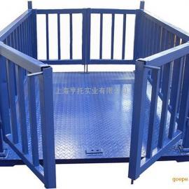 3吨带围栏畜牧电子秤 动物电子地磅厂家直销 带打印牲畜称