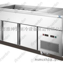 厂家直销茗记甜品店冷柜设备厂家/雪雾高身柜/水雾柜保鲜柜