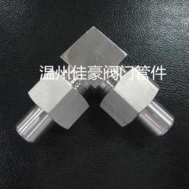 不锈钢JB/T971焊接式仪表活接头 压力表气源转换弯头