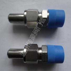 精品供应304不锈钢对焊式直通终端压力仪表气源过渡转换接头