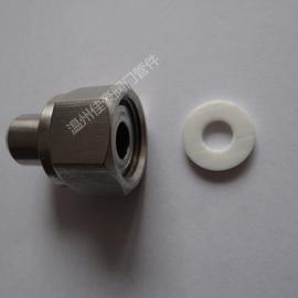现货供应不锈钢304焊接式压力表活接头 气源仪表接头