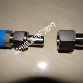精品供应304不锈钢对焊式直通终端变送器活接头 仪表活接头