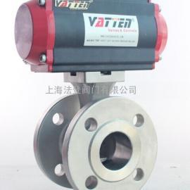 不锈钢气动V型球阀,景津压滤机专用气动球阀
