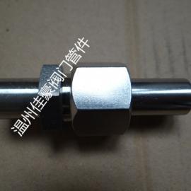 精心打造不锈钢四氟压垫式对焊接直通中间活接头,气源转换接头