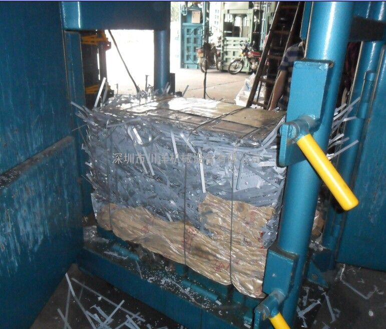 打包机厂家、60吨废金属打包机、废不锈钢边料打包机