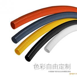 灰色pa6尼龙软管,山东尼龙波纹管,诸城尼龙穿线管