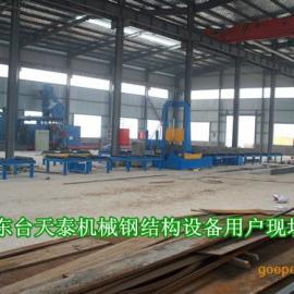 H型钢焊接生产线江苏厂家东台天泰机械产品远销海外