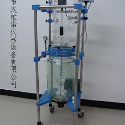 HN-30L双层玻璃反应釜,30L玻璃反应釜