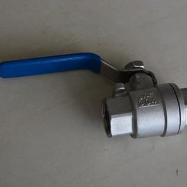 上海风雷 不锈钢仪表阀 二片式螺纹球阀