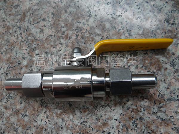 304六角钢活接焊接式气源球阀主要是锻钢锻造制造工艺,螺纹采用数控图片