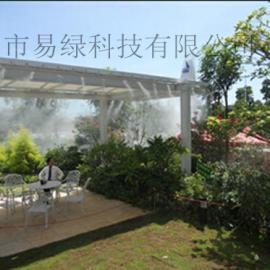 福州厦门三亚宁波玻璃.钢架.钢结构屋顶冷雾喷雾喷淋降温实例