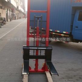 台湾技术制造的手动堆高机鸿福牌升降机