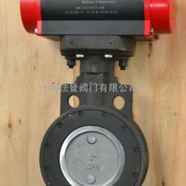 吸干机专用气动双偏心蝶阀,气动高性能蝶阀价格