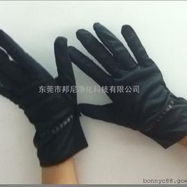 黑色无尘手套/180克双磨手套/超细纤维珠宝手套