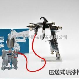 原装日本岩田W-101P压送式油泵油漆喷枪压力桶家具喷漆枪