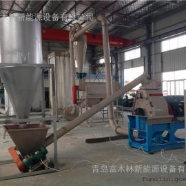 松木树枝粉碎磨粉生产线设备/边角料木粉机/秸秆粉碎机
