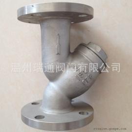 GL41W-150LB不锈钢美标法兰Y型过滤器