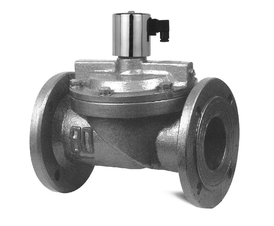 df系列水液电磁阀 法兰连接 不锈钢材质常闭式图片