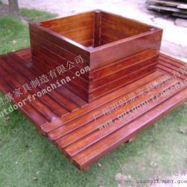 佛山木制花箱,珠海园林花箱,实木组合花箱