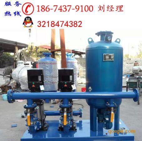 临时用水增压泵由智能型变频控制柜,稳流罐,水泵机组,仪表,阀门及管路图片