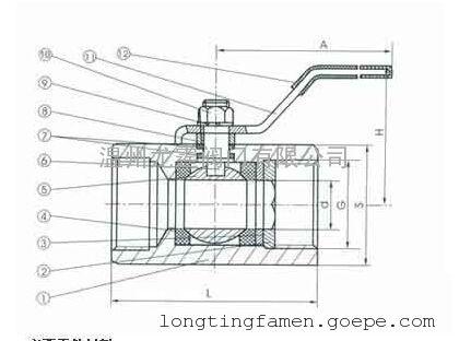 螺纹连接六角球阀为手动操作转角为90°旋转类球阀,龙霆阀门采用图片