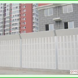 顶部折角隔音墙*金属百叶孔声屏障板&45度折角声屏障效果