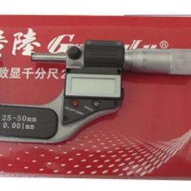 正品供应211-102F广陆25-50mm数显千分尺