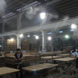 清远东莞中山高温工厂喷淋降温工程铁皮房喷雾降温设备案例