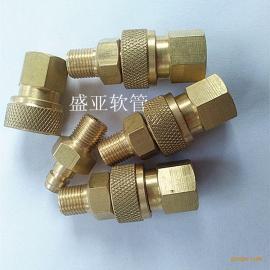 气动元件8mm铜快速接头 公头+母头 性能优越 方便小巧
