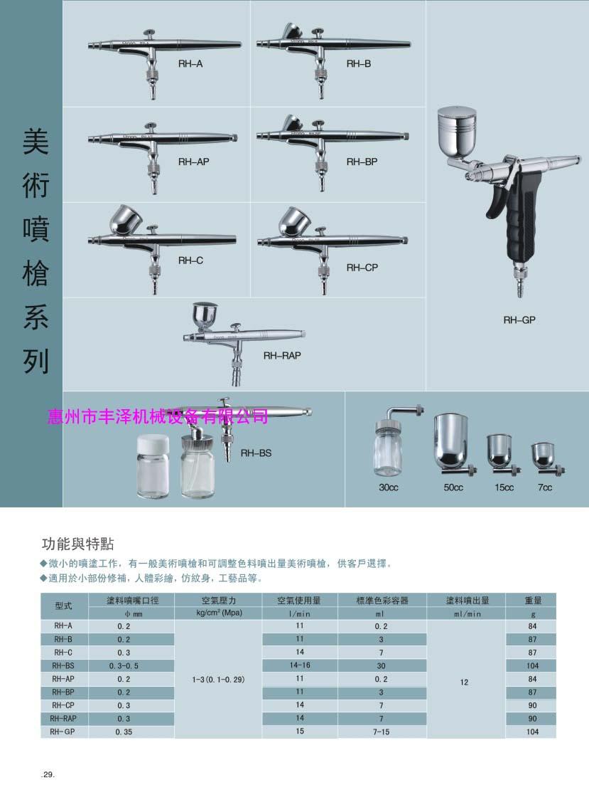 厂家直销台湾宝丽RH-GP美术喷笔 手动型喷笔修补用喷枪