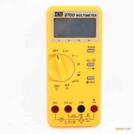 台湾泰仕 TES2700 数字式电表 数字万用表 数位万用表 高精度